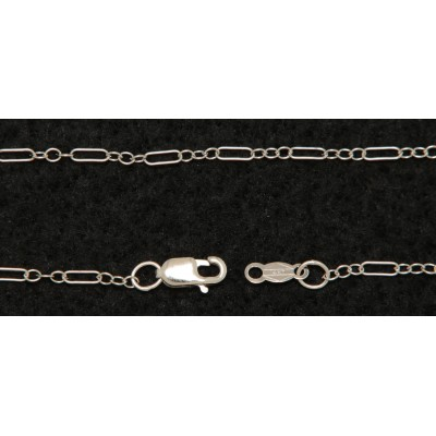 14kt White Gold Deco Chain - 18 inches