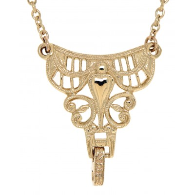 14kt Yellow Gold Victorian Style Semi Mount Necklace