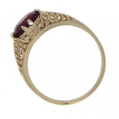 14kt Yellow Gold Ruby Filigree Ring