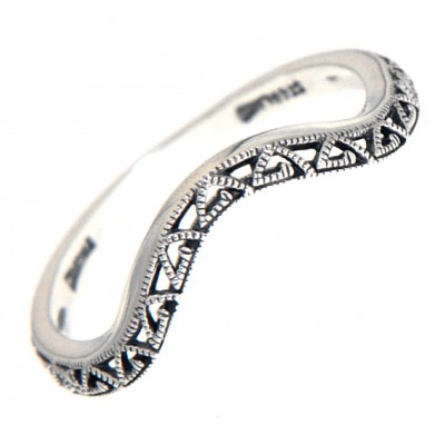 Matching Band for FR-1837 Sterling Silver White Topaz Filigree Ring