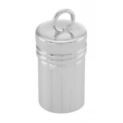 Sterling Silver Cylinder Pillbox with Bail - Made in USA