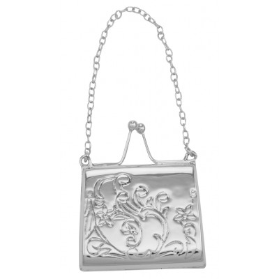 Antique Style Paisley Purse Locket / Pill Box in Fine Sterling Silver