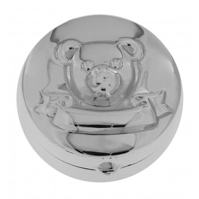 Teddy Bear / First Tooth / Christening / Baptismal Sterling Silver Baby Box