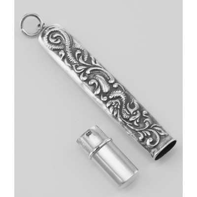 Needle Sewing Case - Needlecase - Vintage Style Sterling Silver