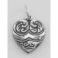 Vintage Style Heart Charms