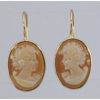 Cameo Silver / Gold Earrings