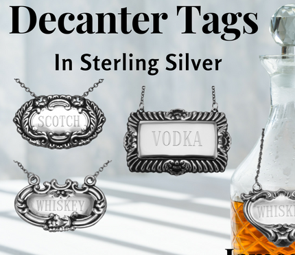 Sterling Silver Decanter Tags